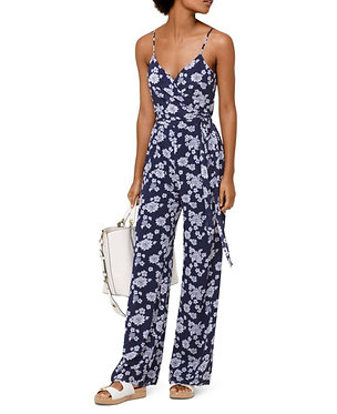 Michael Michael Kors Navy Floral Jumpsuit Small