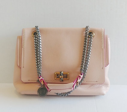 Lanvin Pink Turn Lock Chain Bag