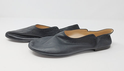 The Row Black Soft Leather Slipper 40