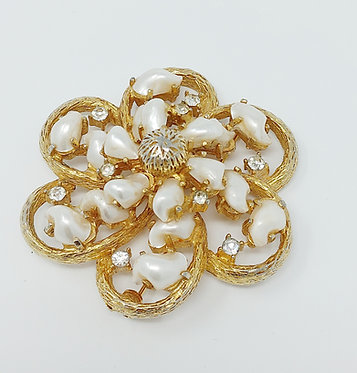 Boucher 925 Fresh Water Pearl Vintage Brooch