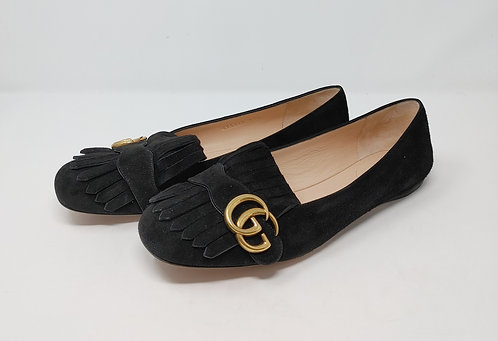 Gucci Marmont Suede Flats 39 1/2