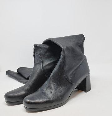Stuart Weitzman Black Leather Tieland Over the Knee Boot 6 1/2