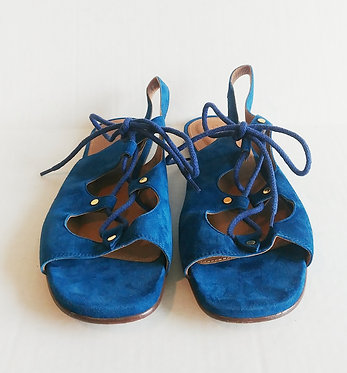 Chloe Blue Suede Lace up 40