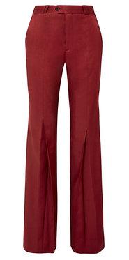 Acne Studios Tohny Pleated Satin-Twill Flared Pants Size 8