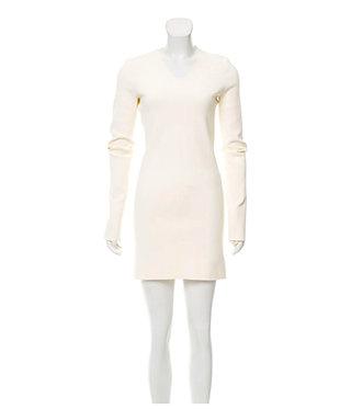 Celine Pheobe Philo Ivory Lightweight Knit Dress S