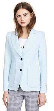 Smythe Portrait Neck Pale Blue Patch Pocket Blazer 8