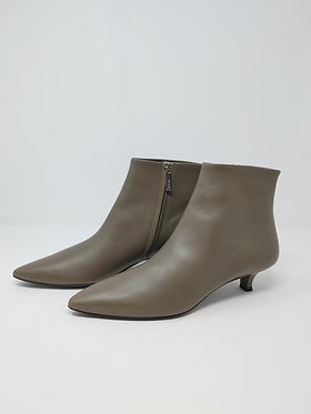 The Row Taupe Leather Bootie 39 1/2
