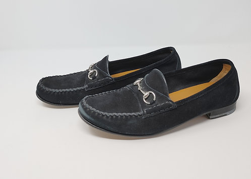 Gucci Black Suede Loafer 40