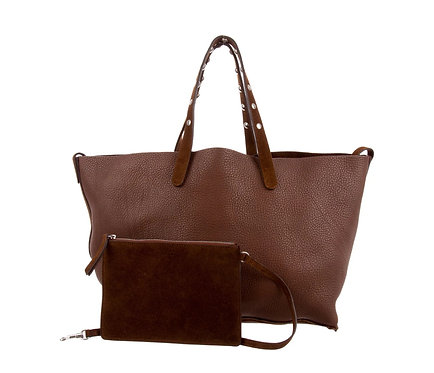 Celine Small Soft Chocolate Reversible Tote with Pouch