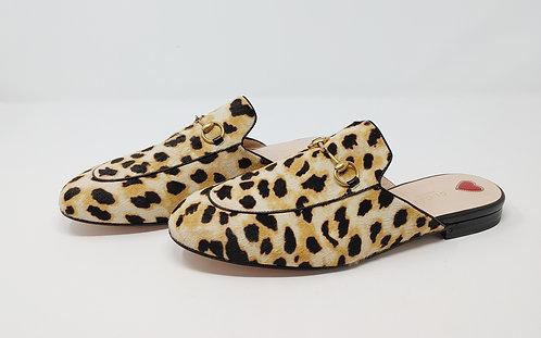 Gucci Leopard Pony Princeton Slides 40 1/2