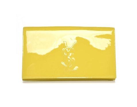 YSL Yellow Patent Clutch