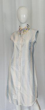 Thom Browne Flower Applique Shirt Dress 42