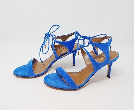 Aquazzura Blue Suede Sandal 37 1/2
