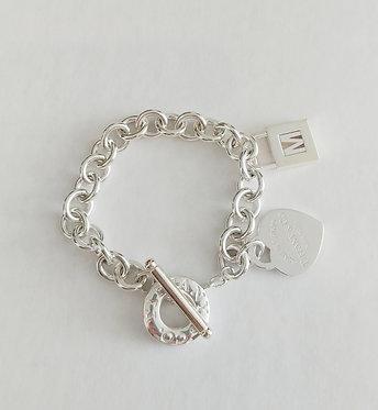 Tiffany & Co. Return to Tiffany Heart Tag Toggle Bracelet with M Charm