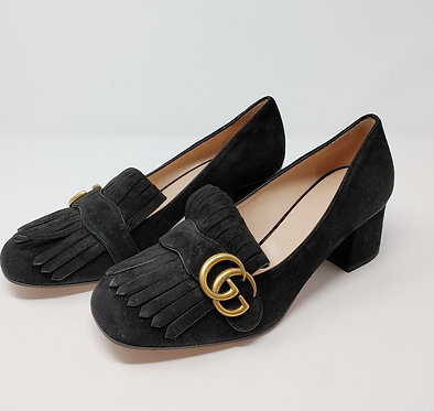 Gucci Marmont Suede Heels 39 1/2