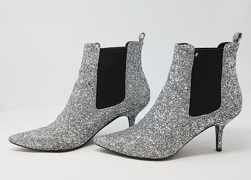 Anine Bing Silver Glitter Booties 39