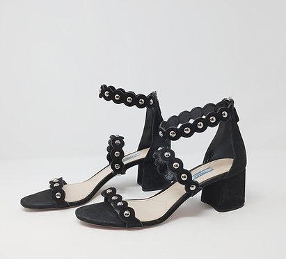 Prada Black Suede Studded Sandal 40
