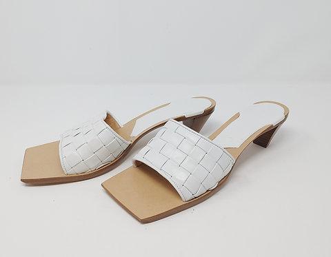 Bottega Veneta Woven White Sandal 40