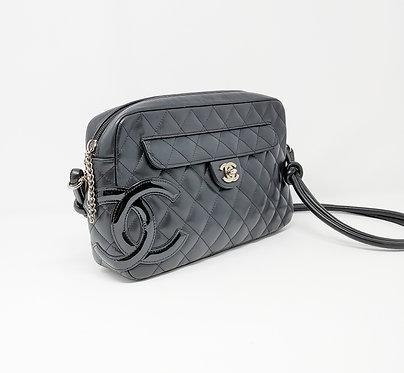 Chanel Black Ligne Cambon Quilted Shoulder Bag