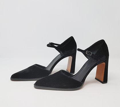 Celine Black Velvet Mary Jane 40
