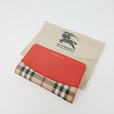 Burberry Check Continental Wallet