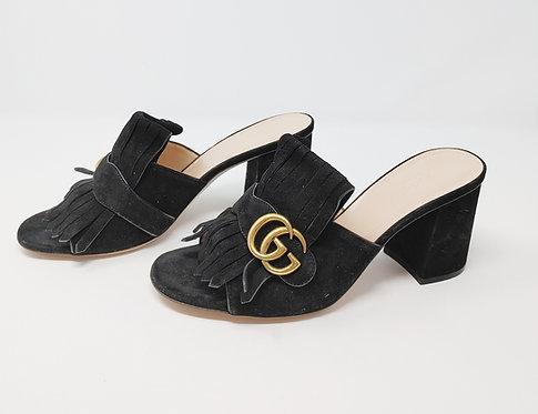 Gucci Marmont Suede Sandals 39 1/2