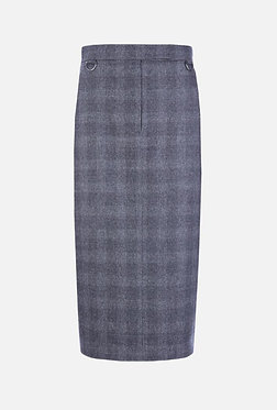 Max Mara Check Wool Cashmere Skirt 42