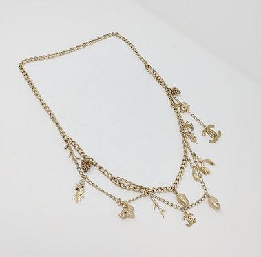 Chanel 2005A Light Gold/Shimmer Charm Chain Belt