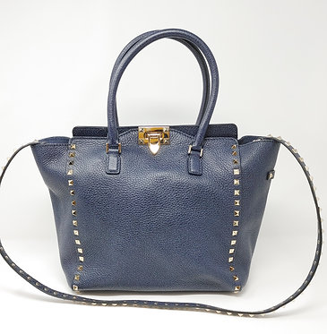 Valentino Rockstud Double Handle Bag with Strap