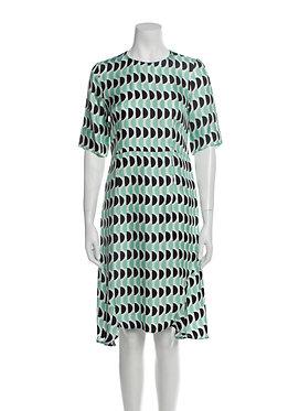Marni Geometric Print Dress 46/10
