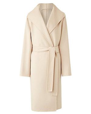 Joseph Lima Wool Cashmere Belted Wrap Coat 38/US4