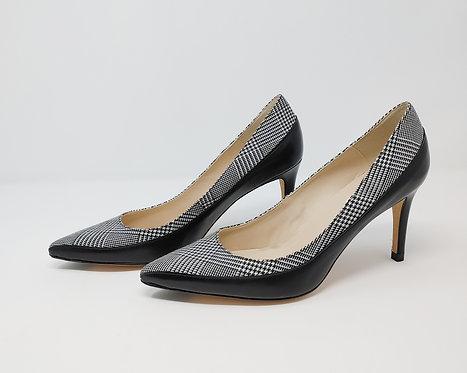 L.K. Bennett Black and White Court Shoe 40