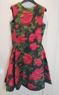 Lanvin Rose Print Brocade Dress with Pockets 40/US8