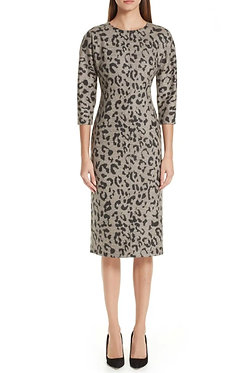 Max Mara Leopard Print Dress 42