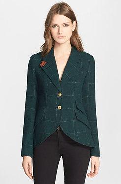 Smythe Equestrian Jacket Windowpane Dark Green Size 6