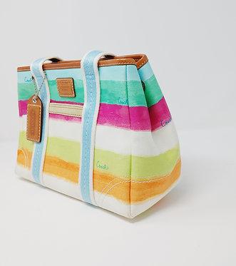 Coach Pastel Stripes Handle Bag