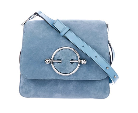 JW Anderson Blue Suede Disc Bag