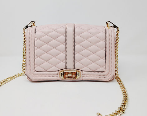 Rebecca Minkoff Pale Pink Quilted Crossbody