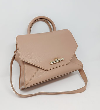 Givenchy Obsedia Top Handle Satchel Small Nude