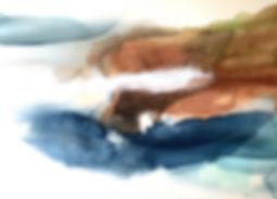 Brack, Watercolour and chalk rubbing on