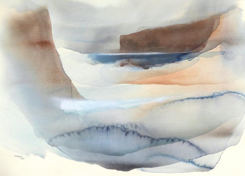 Peter Davis, 'Fjora', Watercolour, bodycolour and chalk on paper 2021 (50x70cm) copy.jpg