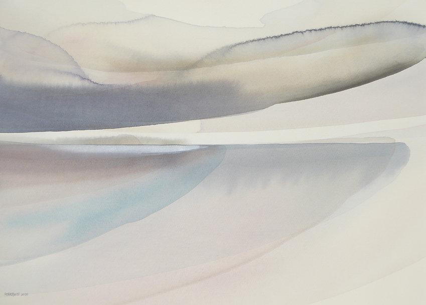 Strange Light, May, Watercolour on paper