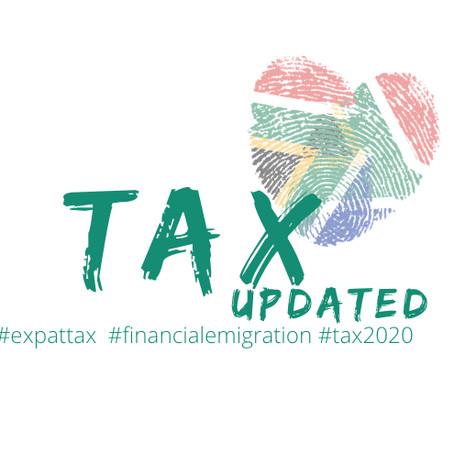 TAX2020: updates since the BUDGET SPEECH 2020
