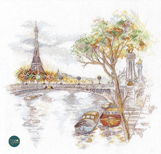 1044 Otoño en París - OVEN - Kit de punto de cruz