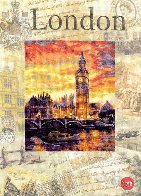 0019 PT Ciudades del mundo. Londres - Riolis - Kit de punto de cruz