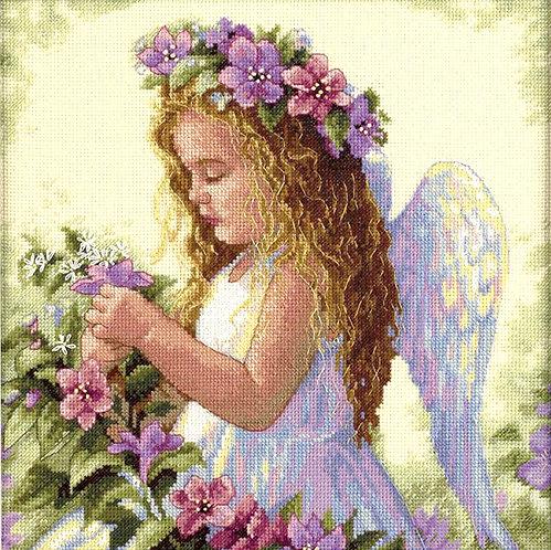 Ángel de la flor de la pasión - 35229 Dimensions - Kit de punto de cru