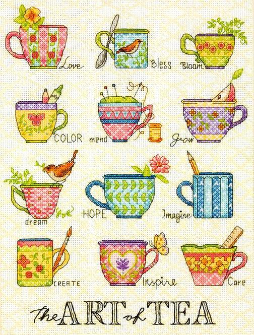 El arte del té - 70-35335 Dimensions - Kit de punto de cruz