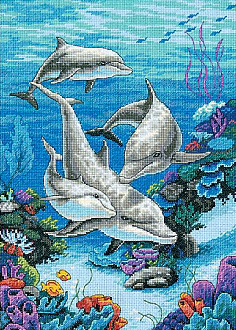 El Dominio De Los Delfines - 03830 Dimensions - Kit de punto de cruz