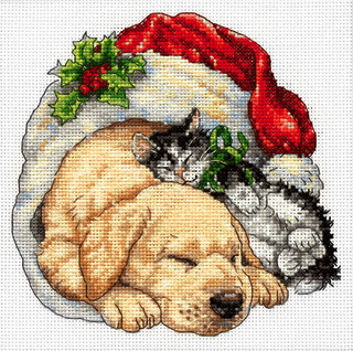 Christmas Morning Pets - 08826 Dimensions - Kit de punto de cruz