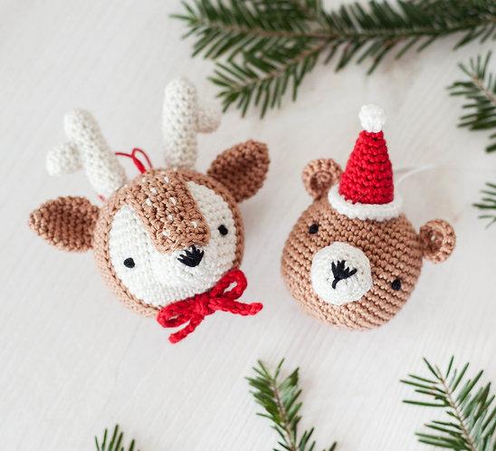 A28HEAD Reindeer and Teddy - Anchor - KIT de AMIGURUMIS